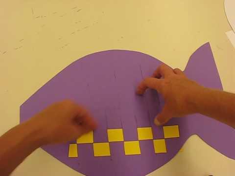 Fish Shaped Paper Weaving By Lorri