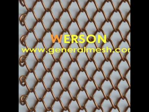 generalmesh Woven Wire Drapery, decorative metal mesh drapery, curtains for living room