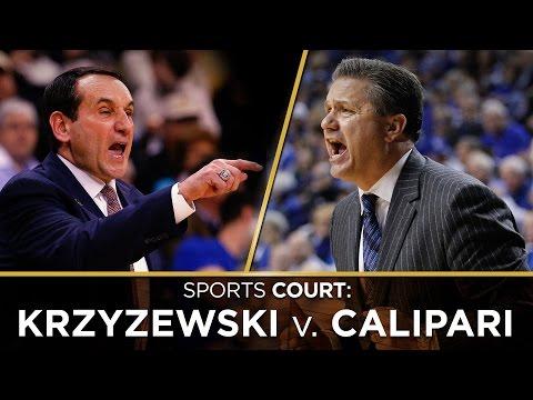Is the greatest college basketball coach Mike Krzyzewski or John Calipari?