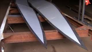 Строительство стального складного катамарана 1