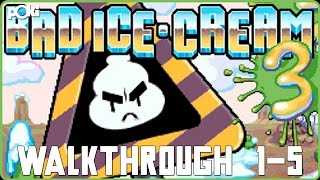 Icey Cold! Bad Ice Cream 3, Levels 1-5 Poki Walkthrough