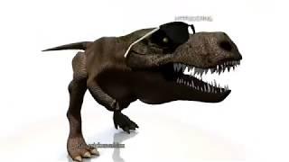 T-Rex bailando