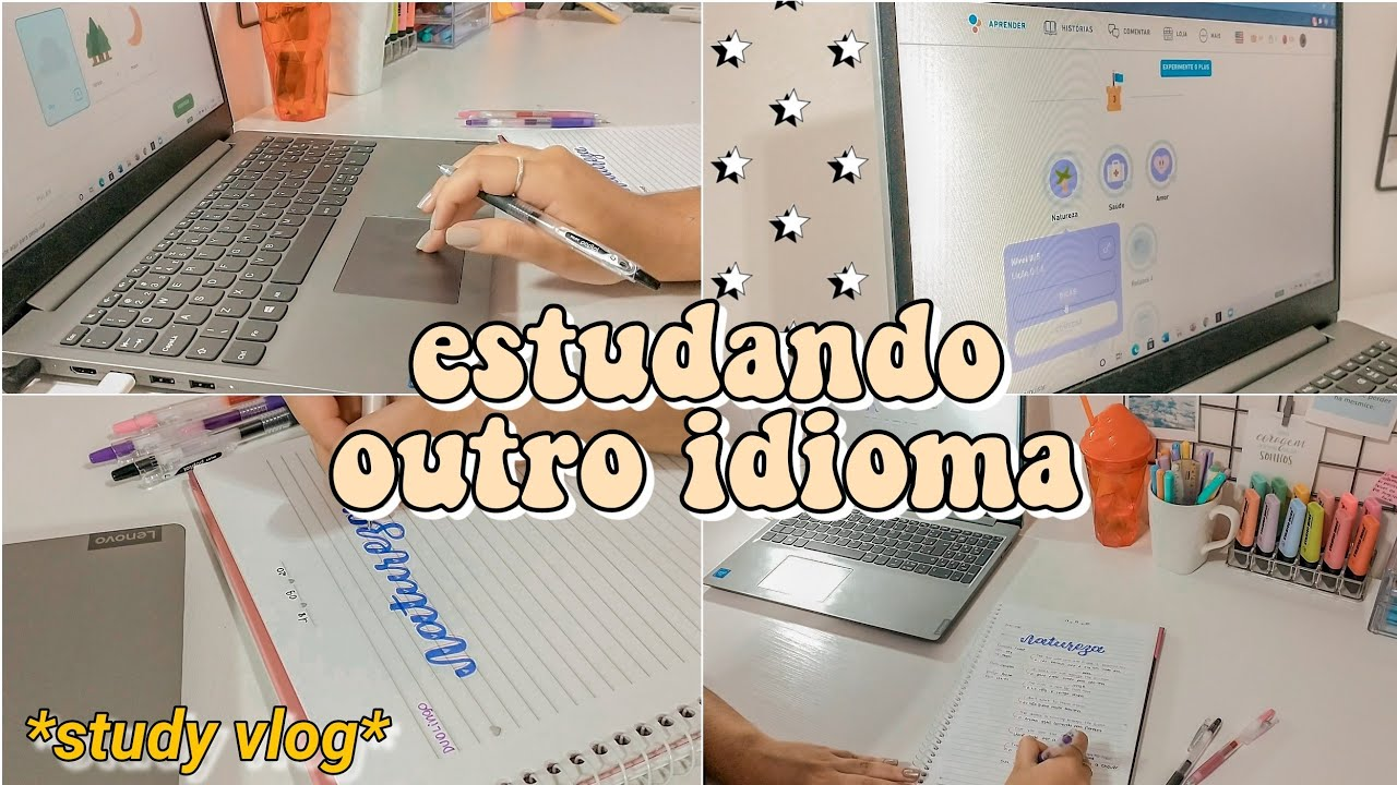 STUDY VLOG   Estudando inglês ✨