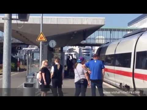 ICE (Hamburg-Copenhagen) Train On Puttgarten To Rødby Ferry Crossing - Complete Passenger Process