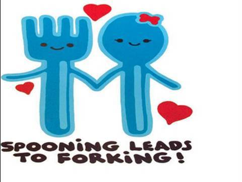 What does spooning leads to forking mean