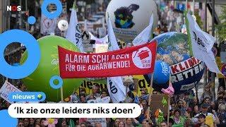 Jongeren gaan de straat op na oproep van Greta Thunberg