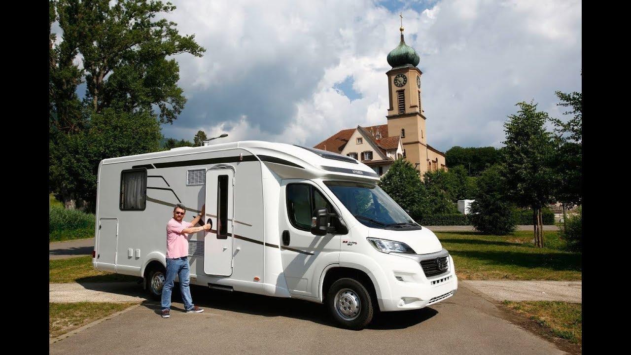 hymer tramp des camping cars lits jumeaux ou lit central youtube. Black Bedroom Furniture Sets. Home Design Ideas