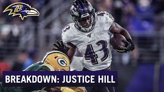 Baldy Breakdown: RB Justice Hill's Game Film Looks Special
