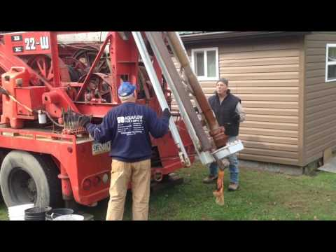 Drilling a water well with a Bucyrus-Erie 22-W Cable Drill Rig