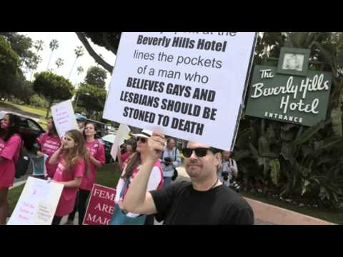 Stars Boycott Beverly Hills Hotel Over Brunei Sharia Law   7 May 2014 MUST SEE