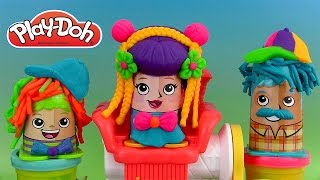 Pâte à modeler Coiffures en folie Play Doh Crazy Cuts Hair Playset Cortes Divertidos