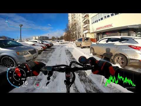 Зимний тест-драйв РАБОТА-ДОМ электросамокат Halten RS-02 2020 года