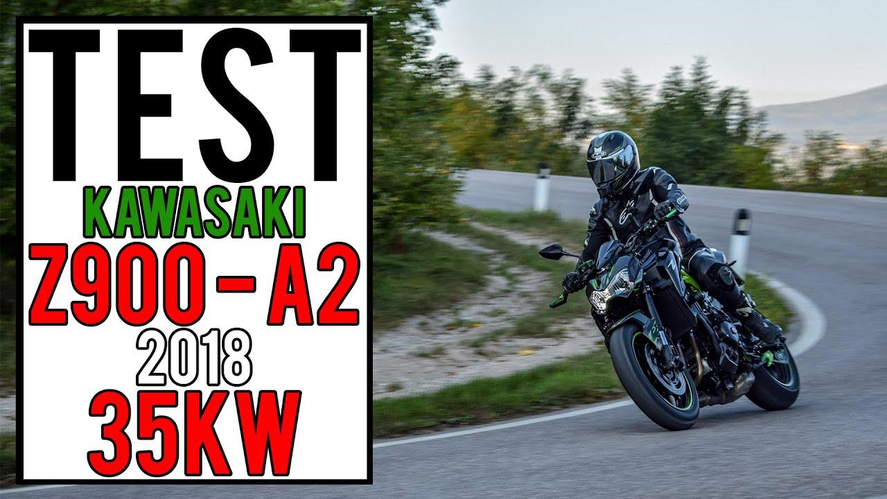 Test Z900 35kw My 2018 Per Patente A2 Tridentvm Bikers Youtube