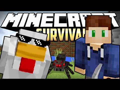 Minecraft - BERT AND THE SCARY TUNNEL!! | Survival