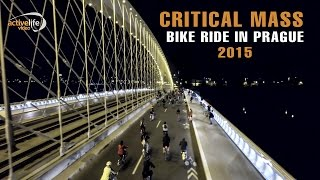 Critical Mass bike ride 2015 in Prague | Aerial view