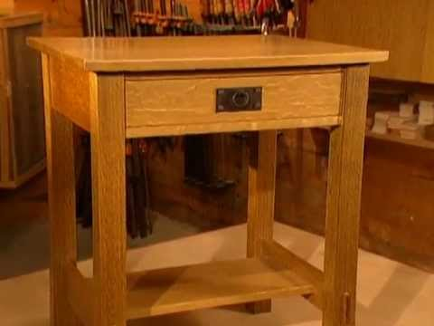 Woodworks episode 104 arts crafts inspired nightstand for Free nightstand woodworking plans