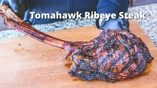 Tomahawk Ribeye Steak | Grilled Tomahawk Ribeye on the PK Grill