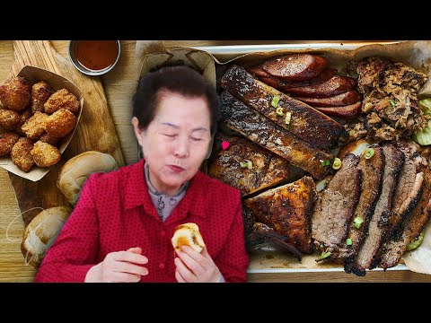 Korean Grandma Tries 'American BBQ' For The First Time