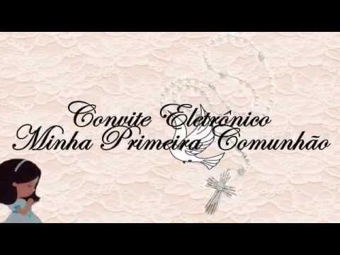 Convite Animado Primeira Comunhão Youtube