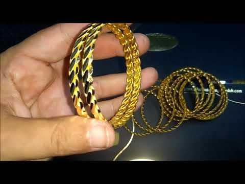 22 Ayar Altın Bilezik Modelleri Üçlü Burma Bilezik Adana Burması