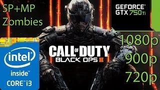 Call of Duty Black Ops 3 - i3 (Simulated) - 8GB RAM - GTX 750 ti