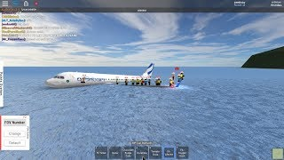 Roblox airBritain Water landing Airbus A320 NEO