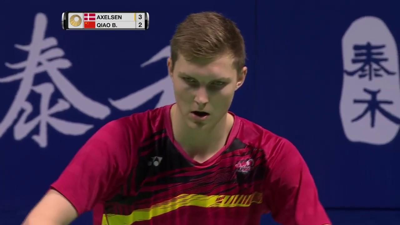tahoe china open 2017 badminton r16 m4 ms viktor axelsen vs qiao bin