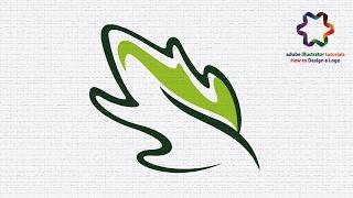 how to create leaf in adobe illustrator - pen tool tutorial for beginners - logo design illustrator