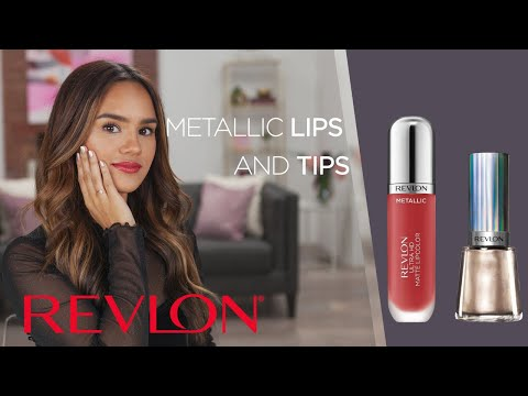 Classic Holiday Look with Metallic Lips and Nails feat. Dacey Cash  | Revlon