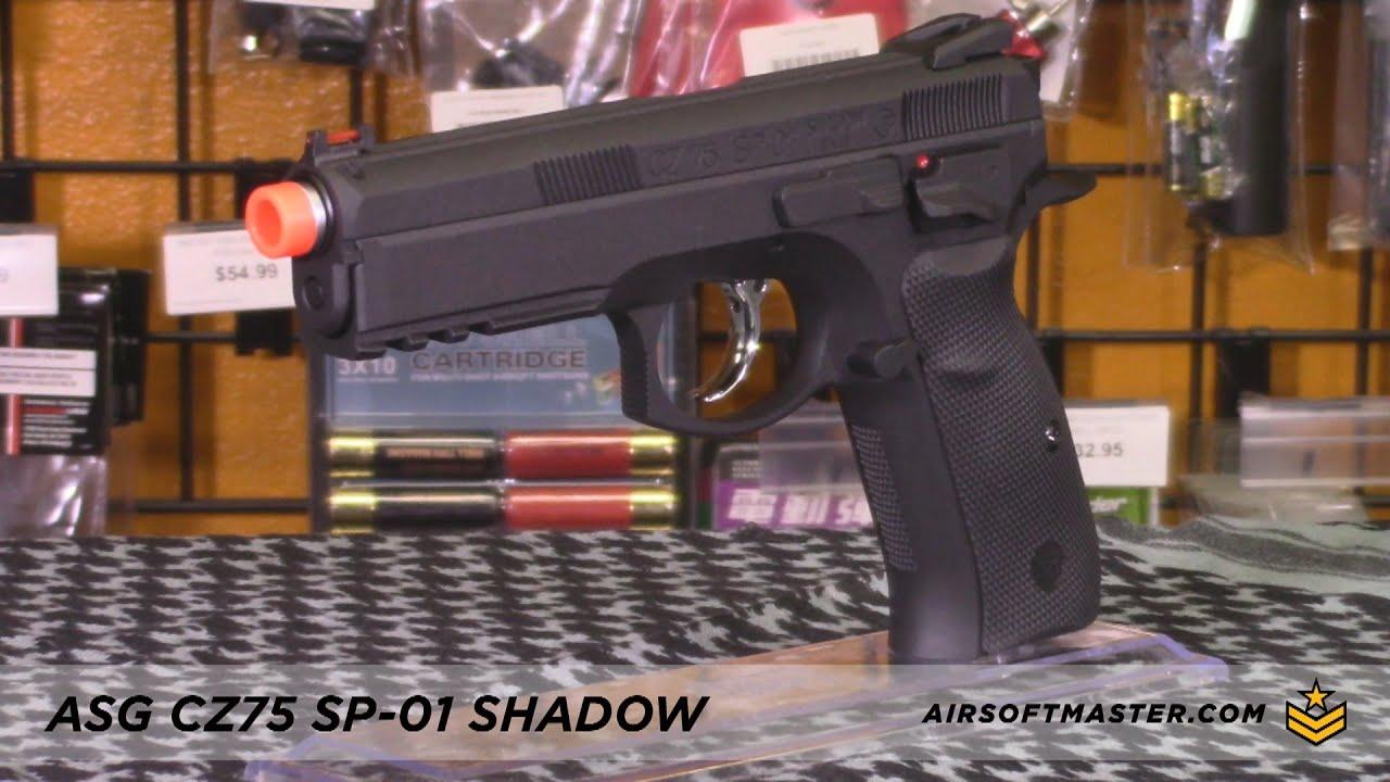 ASG CZ SP-01 Shadow GBB Airsoft Pistol Black