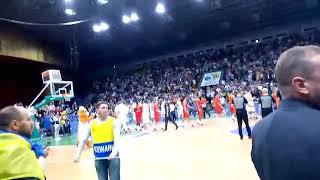 Баскетбол. Украина - Испания. Последние секунды игры, исполнение гимна Украины.