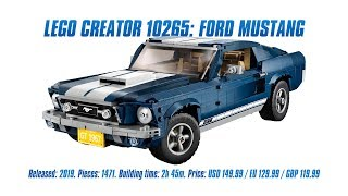 LEGO Creator 10265: Ford Mustang In-depth Review, Speed Build & Parts List [4K]