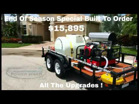 Hot water power wash trailer for sale - Limited Time Only !