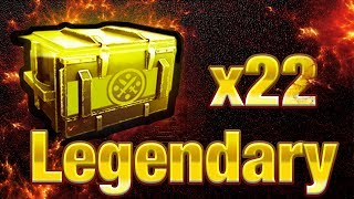 "22 Legendary ""Treasure"" Chest Opening 