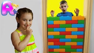 Anna Play With Colored block wall by Anna