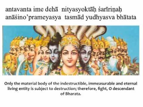 Bhagavad Gita Chapter 2 Verse 18 Youtube