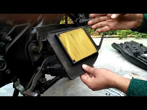 Yamaha SZR, Air filter cleaning