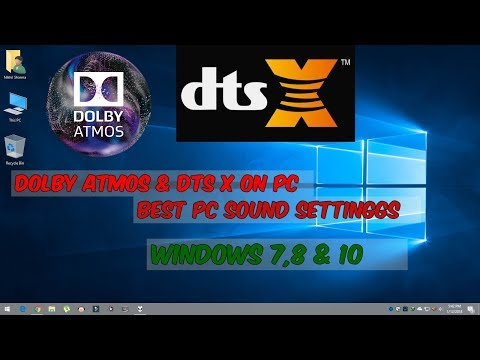 Dolby Atmos  and DTS-X  on Computer | Surround Sound On PC | UPDATED 2018 Mp3
