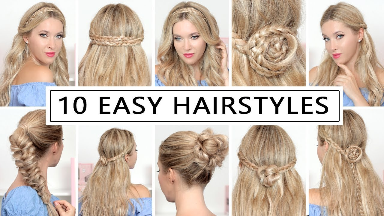 10 HAIRSTYLES for BACK TO SCHOOL, everyday, party ❤ Quick and easy hair  tutorial