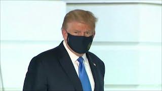 Президента США у которого подтвердился коронавирус доставили на лечение в военный госпиталь