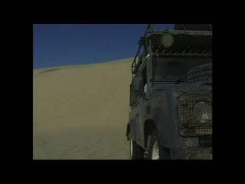 Driving Land Rovers in the Namid desert, Namibia, Africa