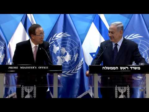 PM Netanyahu Meets UN Secretary General Ban Ki-moon