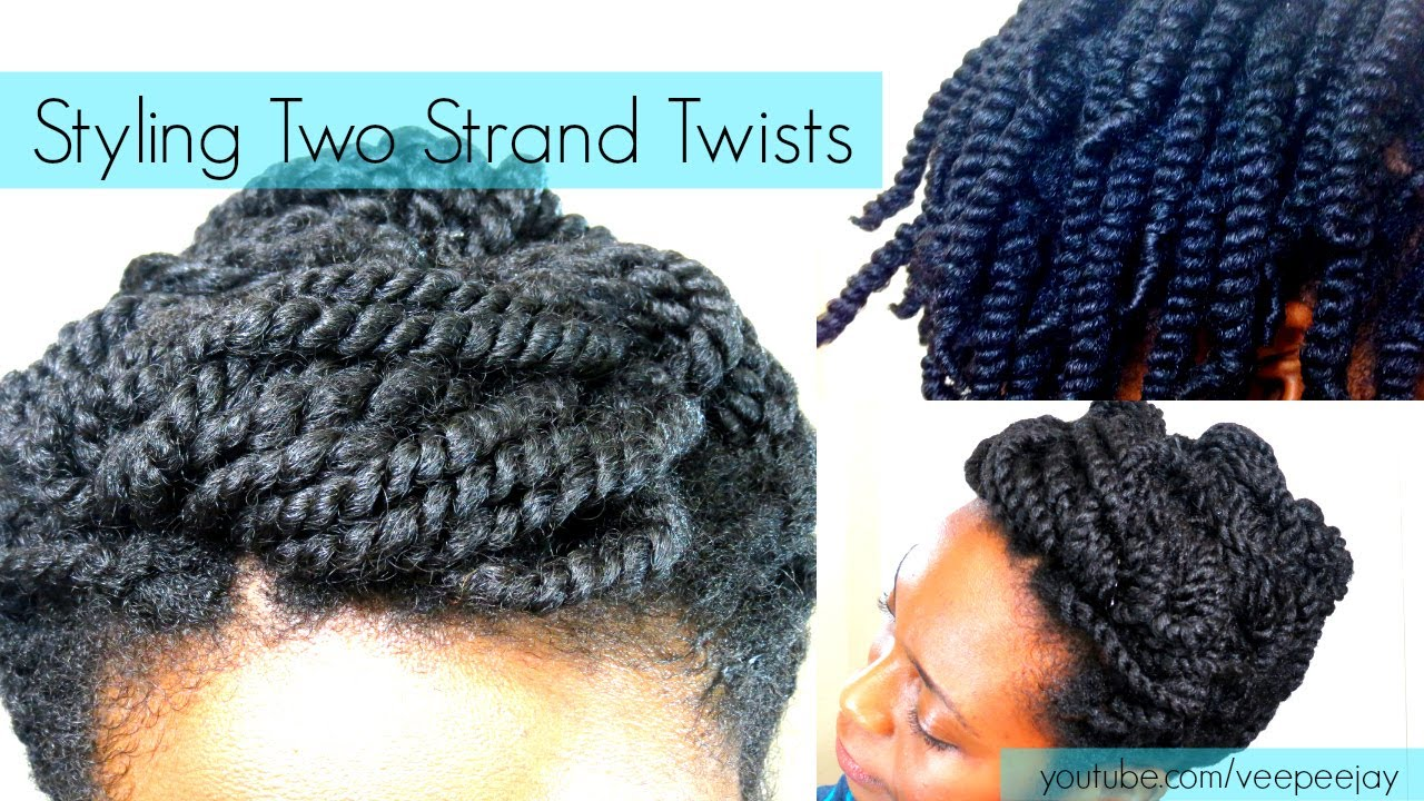 How To Style /Pin Up Two Strand Twists