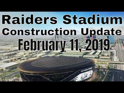 Las Vegas Raiders Stadium Construction Update 02 11 2019