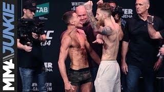 UFC 234: Official weigh-in face-offs