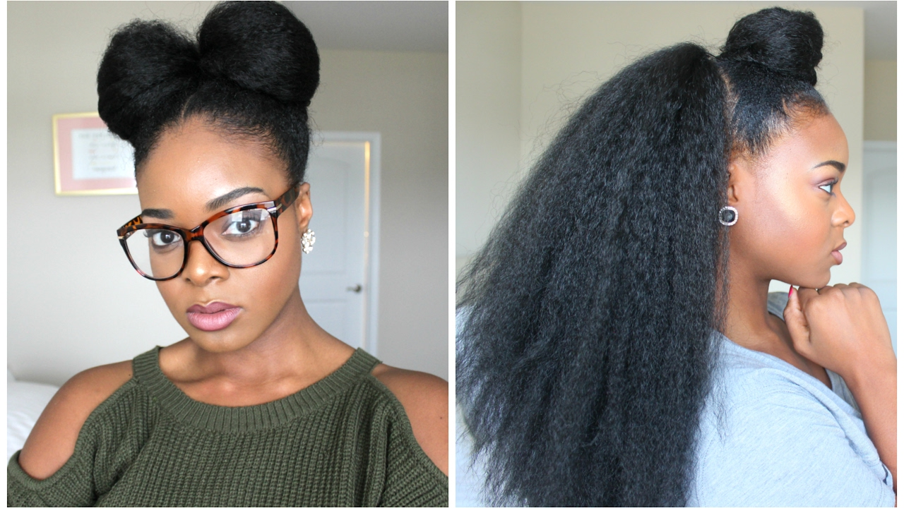 NATURAL HAIRSTYLES WITH BRAIDING HAIR - Ify Yvonne - YouTube