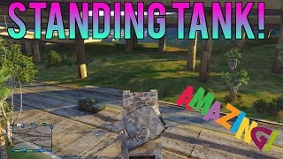 Gta 5 Glitches - Standing Tank Glitch! Make A Tank Stand Upright Glitch!