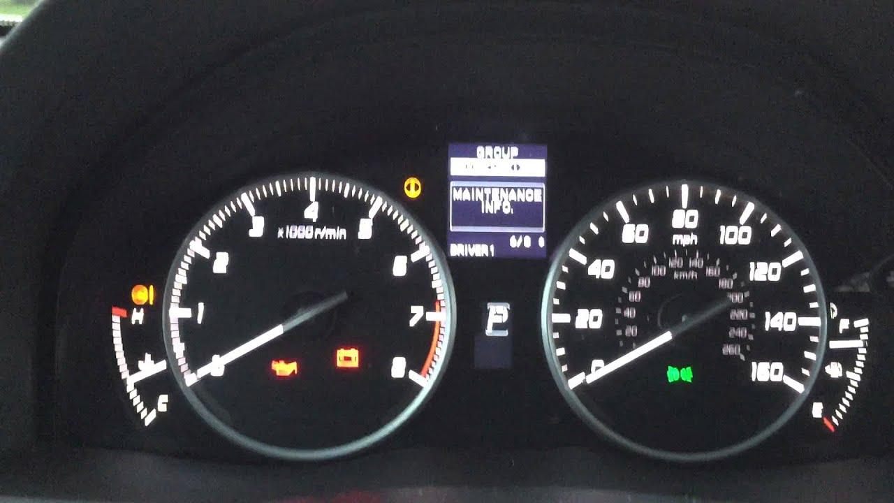 2013 Acura RDX B1 Oil Life reset - YouTube