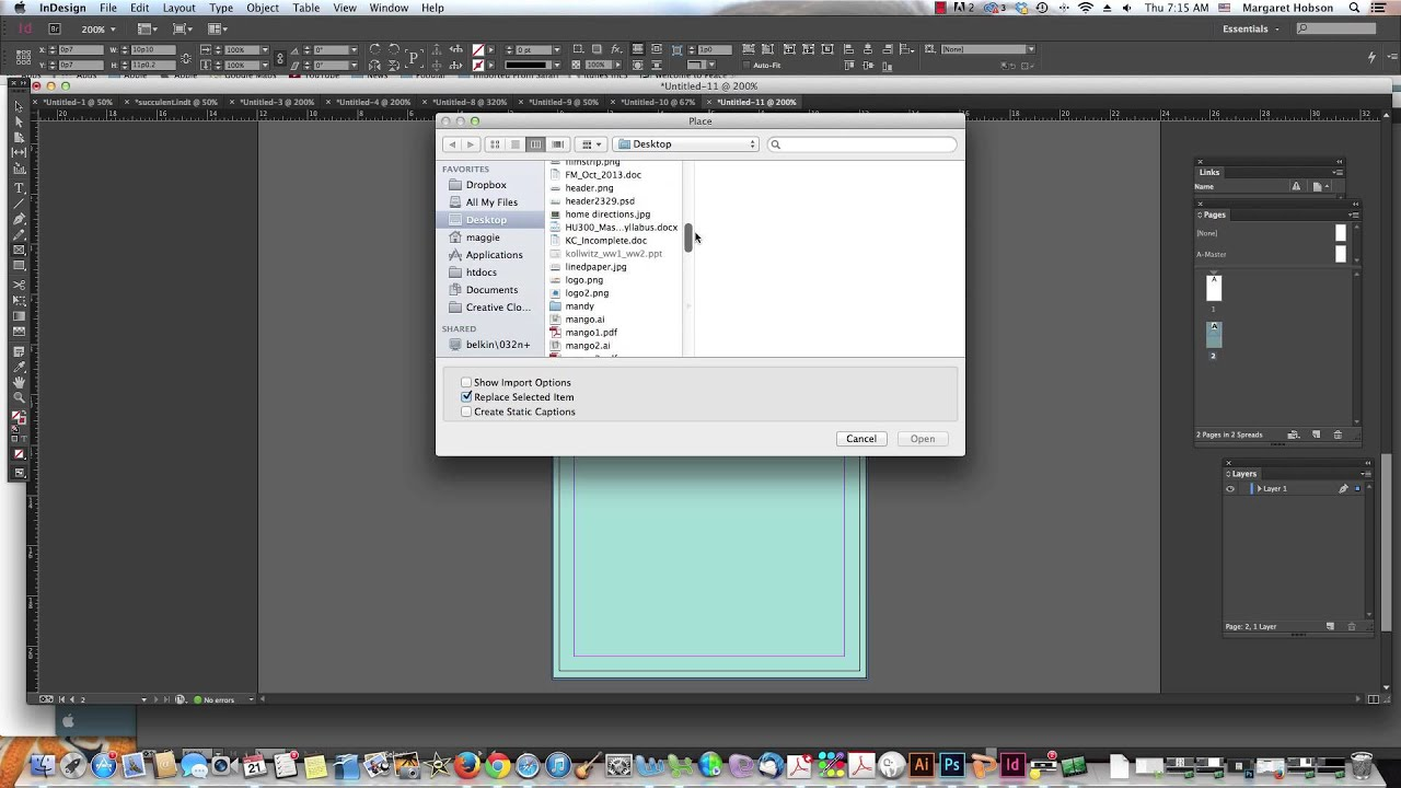 Creating a Business Card with InDesign - YouTube