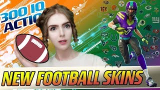 NEW FOOTBALL SKINS - 300IQ HARDROCK MONTAGE - LOEYA plays FORTNITE BATTLE ROYALE